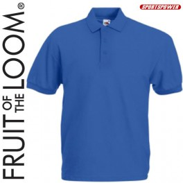 Fruit Of The Loom 65/35 Polo Pique, Blue