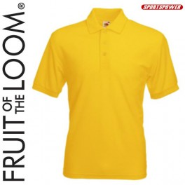 Fruit Of The Loom 65/35 Polo Pique, Yellow