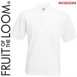 Fruit Of The Loom 65/35 Polo Pique, White