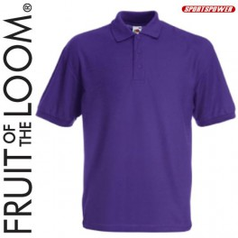 Fruit Of The Loom 65/35 Polo Pique, Purple