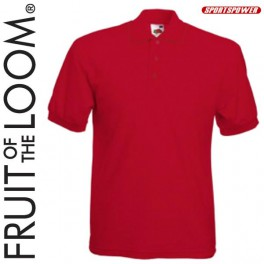 Fruit Of The Loom 65/35 Polo Pique, Red