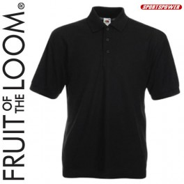 Fruit Of The Loom 65/35 Polo Pique, Black