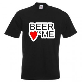 Beer Loves Me (T-Shirt), sort