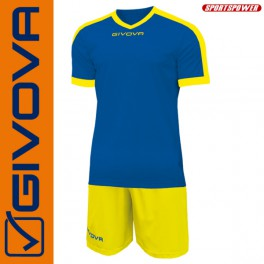 Givova, Kit Revolution Blue-Yellow (13+1)