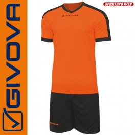 Givova, Kit Revolution Orange-Black (13+1)