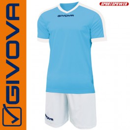Givova, Kit Revolution Cyan-White (13+1)