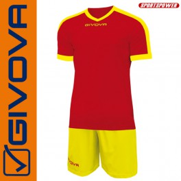 Givova, Kit Revolution Red-Yellow (13+1)