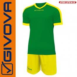 Givova, Kit Revolution Green-Yellow (13+1)