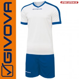 Givova, Kit-1 Revolution White-Blue (Spillesæt)