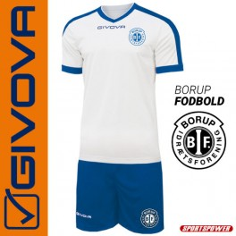 Givova, Kit-1 Revolution White-Blue BORUP (Spillesæt)