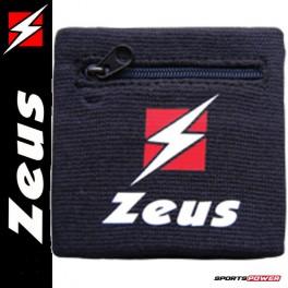 Zeus Håndleds Svedbånd, Lynlås-lomme (6 cm)