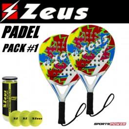 Zeus Padel Pack-1: Begynder (2 x Bat + 3 bolde)