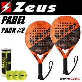 Zeus Padel Pack-2: Advance (2 x Bat + 3 bolde)