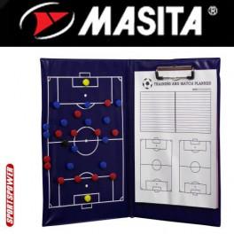 Taktikmappe med blok og magneter (fodbold)