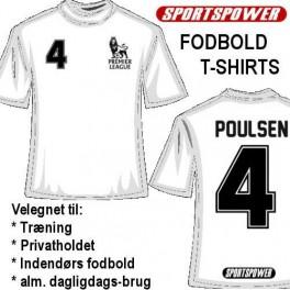 Personal Fodbold-Shirt, Hvid